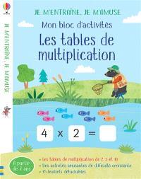 Les tables de multiplication de 3, 4, 6 et 8 : mon bloc d'activités