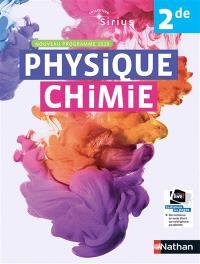 Physique chimie 2de : nouveau programme 2019