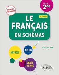 Le français en schémas, niveau 2de : nouveaux programmes