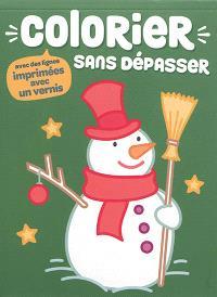 Colorier Sans Depasser Bonhomme De Neige Librairie Mollat Bordeaux