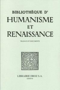 Bibliothèque d'humanisme et Renaissance. n° 81-1