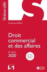 Droit commercial et des affaires : 2020