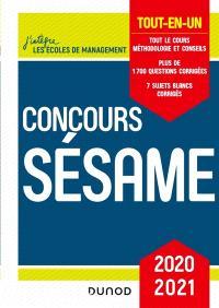 Concours Sésame : tout-en-un : 2020-2021
