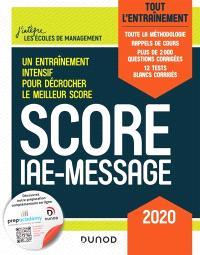 Score IAE-Message : tout l'entraînement : 2020