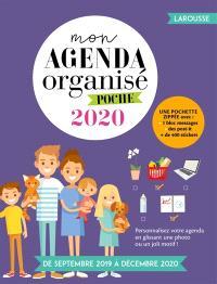 Mon agenda organisé 2020 : poche : de septembre 2019 à décembre 2020