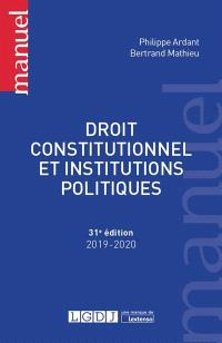 Droit constitutionnel et institutions politiques : 2019-2020