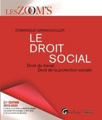 Le droit social : droit du travail, droit de la protection sociale : 2019-2020