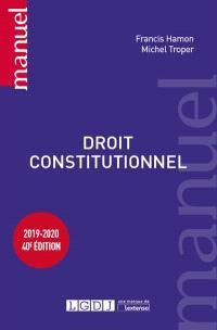 Droit constitutionnel : 2019-2020