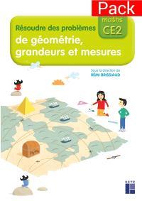 J'apprends les maths CE2 : résoudre des problèmes de géométrie, grandeurs et mesures : pack