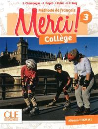 Merci ! méthode de français, collège 3, niveau CECR A1