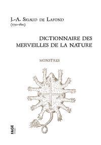 Dictionnaire des merveilles de la nature, Monstres