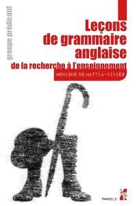 Leçons de grammaire anglaise : de la recherche à l'enseignement, Groupe prédicatif
