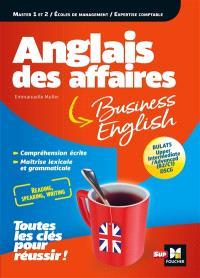 Anglais des affaires : master 1 et 2, écoles de management, expertise comptable : Bulats, upper intermediate, advanced (B2, C1), DSCG