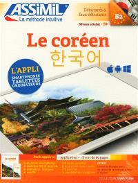 Le coréen : débutants & faux débutants, niveau atteint B2 : pack applivre