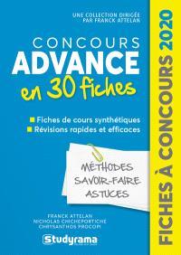 Concours Advance 2020 en 30 fiches : méthodes, savoir-faire, astuces