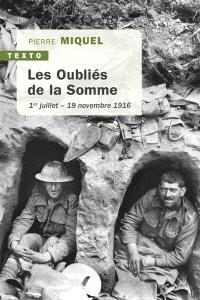 Les oubliés de la Somme : 1er juillet-19 novembre 1916