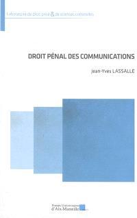 Droit pénal des communications