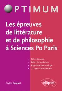 Les épreuves de littérature et de philosophie à Sciences Po Paris