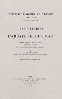 Les obituaires de l'abbaye de Clairac