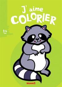 J'aime colorier, 2-4 ans : raton laveur