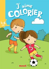 J'aime colorier, 4-6 ans : football