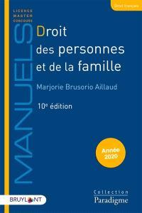 Droit des personnes et de la famille : année 2020
