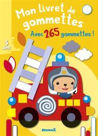 Camion de pompier : mon livret de gommettes : avec plus de 250 gommettes !