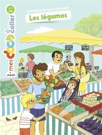 Les légumes : j'apprends avec mes autocollants !