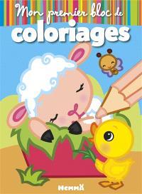 La ferme : mouton : mon premier bloc de coloriages