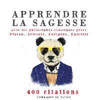 Apprendre la sagesse avec les philosophes classiques grecs Platon, Aristote, Euripide, Epictète : 400 citations