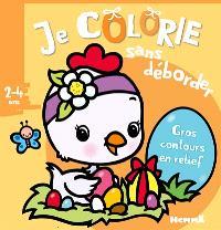 Pâques (poussin) : je colorie sans déborder, 2-4 ans