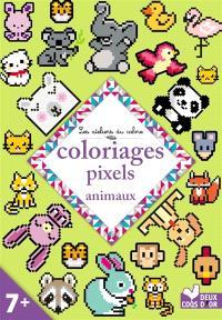 Coloriages pixels : animaux