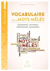 Vocabulaire par les mots mêlés : synonymes, contraires, homonymes, paronymes