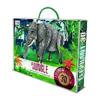 La jungle : une biodiversité extraordinaire : l'éléphant, livre + maquette 3D