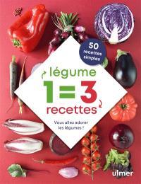 1 légume = 3 recettes : vous allez adorer les légumes !