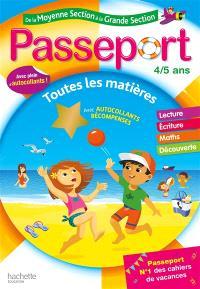 Passeport de la moyenne section à la grande section, 4-5 ans : toutes les matières