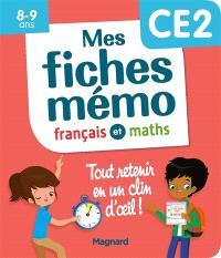 Mes fiches mémo : français et maths, CE2, 8-9 ans