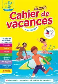Cahier de vacances de la 5e à la 4e, 12-13 ans : toutes les matières au programme : été 2020