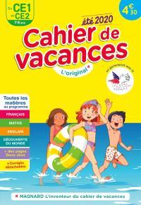 Cahier de vacances du CE1 au CE2, 7-8 ans : toutes les matières au programme : été 2020