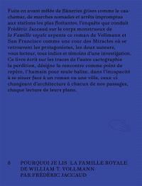 Pourquoi je lis La famille royale de William T. Vollmann : vagabondage