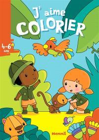 J'aime colorier, 4-6 ans : la jungle