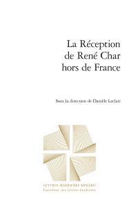 La réception de René Char hors de France