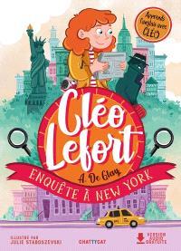 Cléo Lefort, Enquête à New York