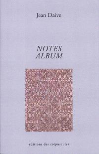 Notes; Album