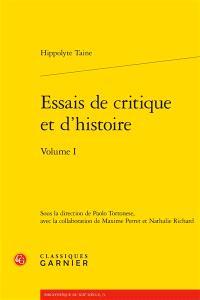 Essais de critique et d'histoire. Volume 1