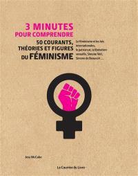 3 minutes pour comprendre 50 courants, théories et figures du féminisme : le féminisme et les lois internationales, le patriarcat, la libération sexuelle, Simone Veil, Simone de Beauvoir...