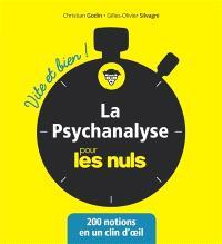 La psychanalyse pour les nuls : 200 notions en un clin d'oeil