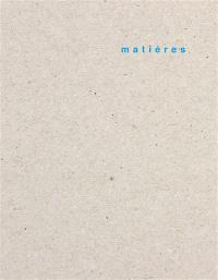 Matières. n° 16