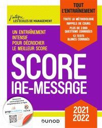 Score IAE-Message : tout l'entraînement : 2021