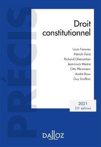 Droit constitutionnel : 2021
